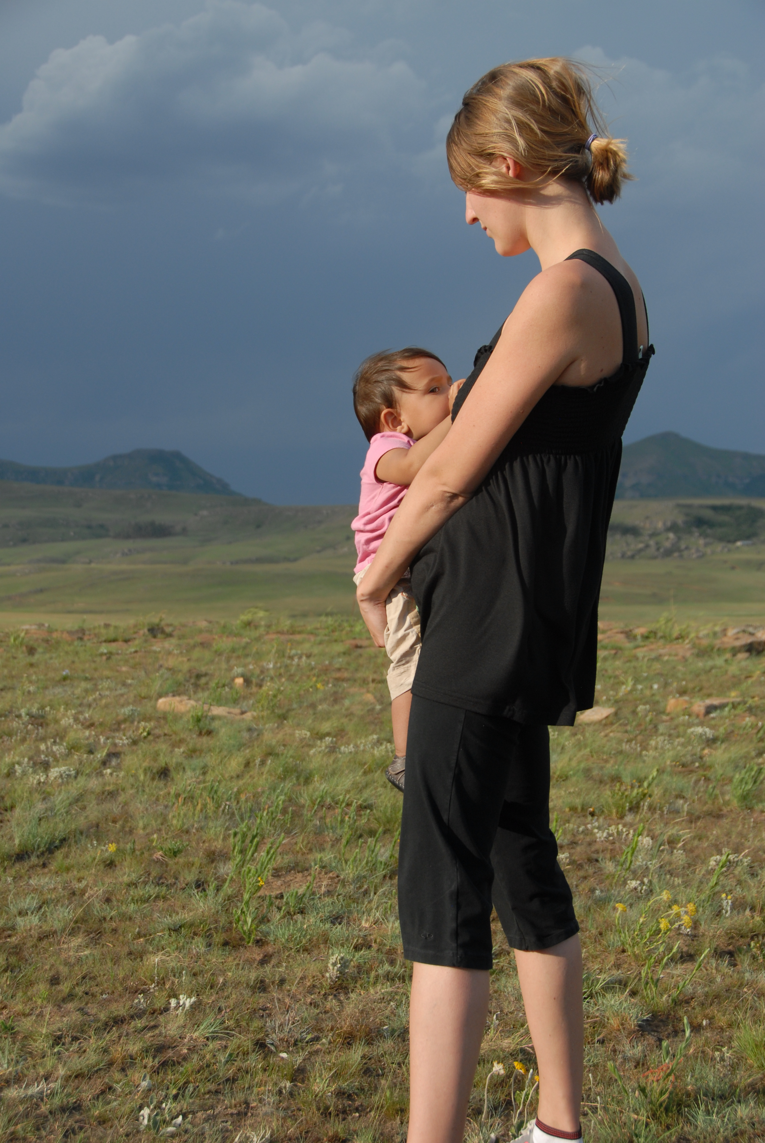 Breastfeeding Veda 11 Months On A Hike In South Africa