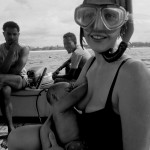 Jessica breastfeeding Surya (5 months) on Snorkel Boat in Watamu, Kenya